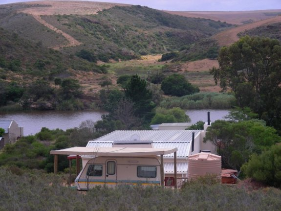 View south across the Breede River.