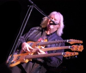 Chris Squire and the triple-neck, during Awaken.